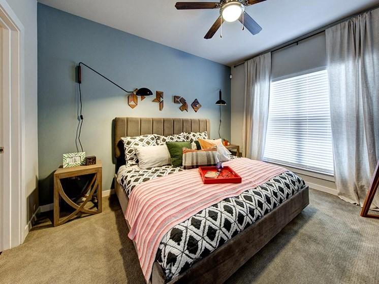 model unit bedroom
