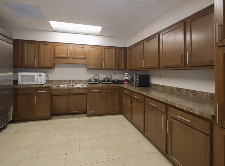 Mount Carmel Gardens senior apartments in jacksonville, florida spacious community kitchen