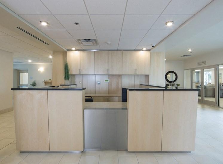 Mount Carmel Gardens senior apartments in jacksonville, florida reception desk