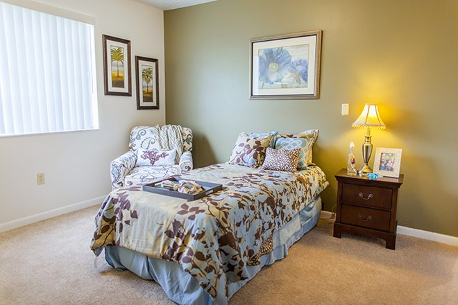 Comfortable Bedroom With Natural Light at Pacifica Senior Living Sunrise, Fort Lauderdale