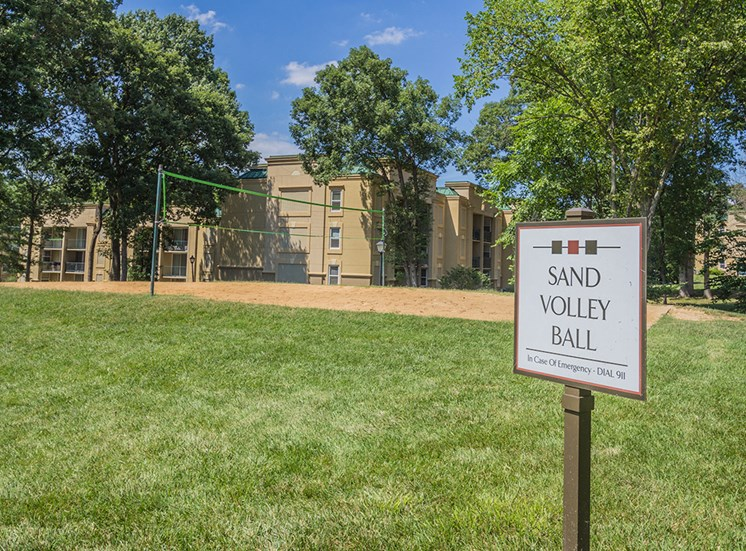 volleyball court with sand for apartment