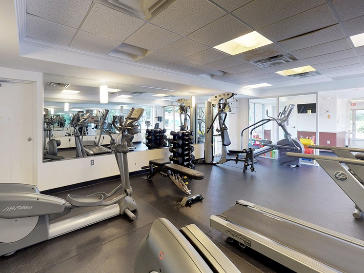 modern fitness center for residents
