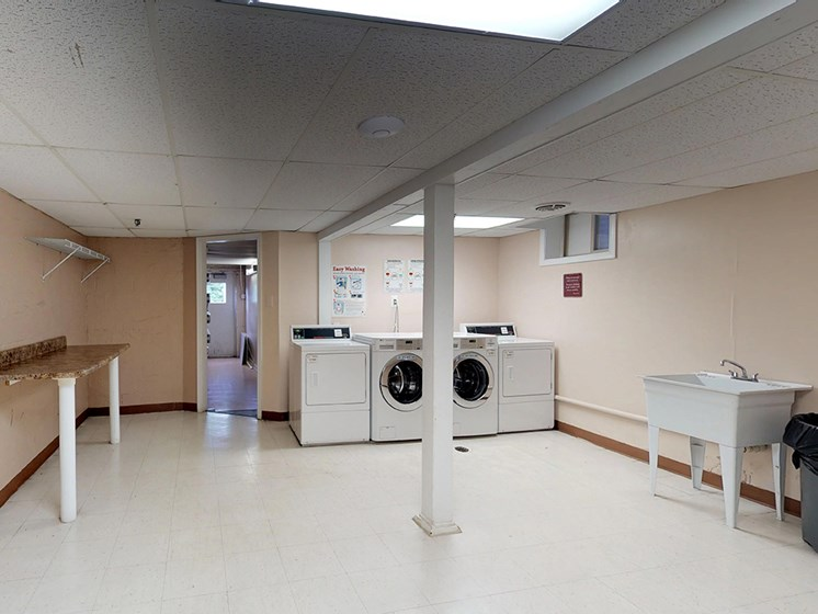 laundry facility area for residents