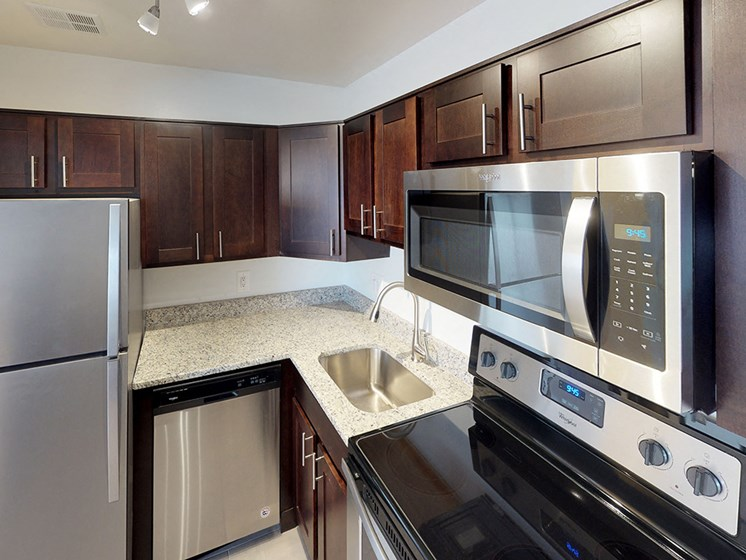 modern stainless steel appliances for woodlee terrace