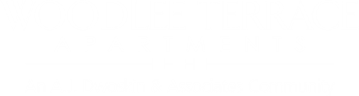 white logo for woodlee terrace