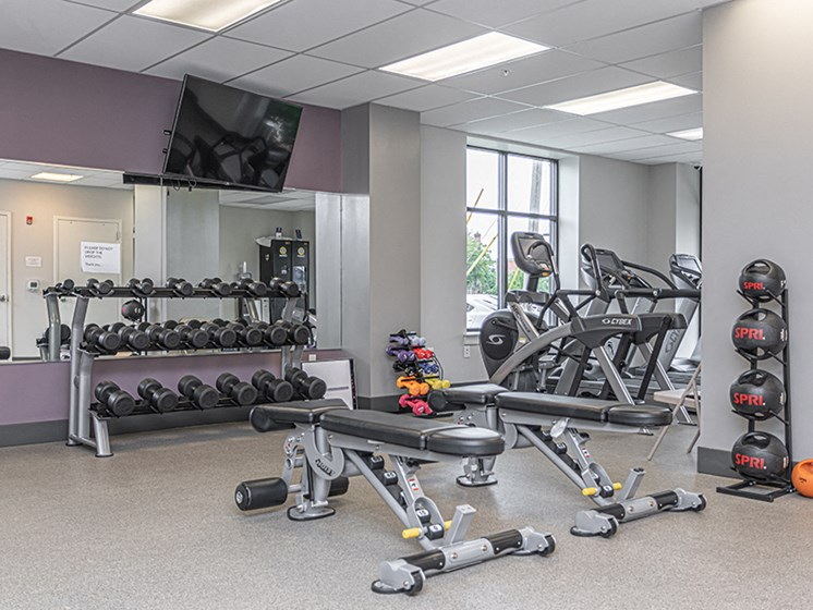 High-Tech Fitness Center at The Square, Ardmore, Pennsylvania