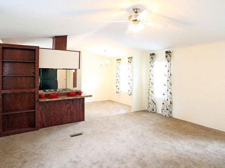 Living Room at Heritage Oaks Rental Homes in Lincoln, NE