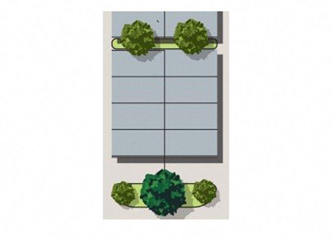 Site Plan Studio Floor Plan at Heritage Oaks Rental Homes in Lincoln, NE