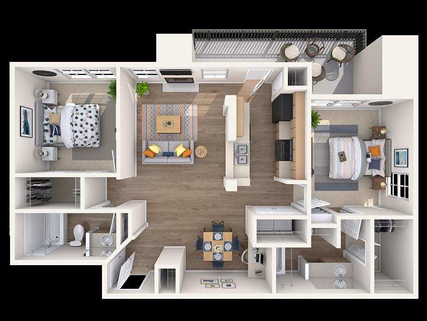 floor plan in north austin apartment