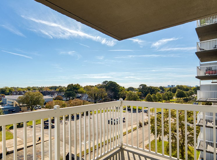 Balcony at Lafayette Apartments in Norfolk VA
