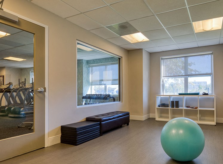 Yoga Room_The_Lafayette_Apartments in Norfolk VA