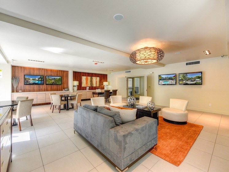 Luxury Apartment Community Clubhouse with Lounge Area