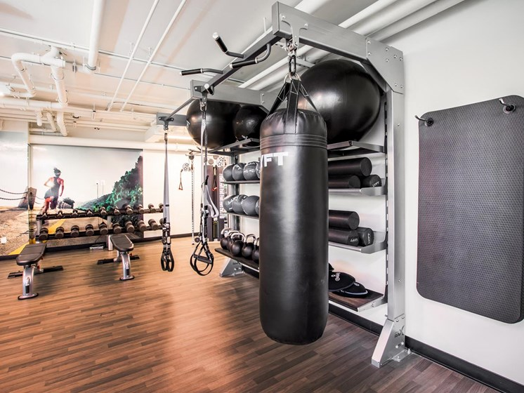 Fully Equipped Fitness Center at The Rise Hayes Valley, San Francisco, CA, 94103