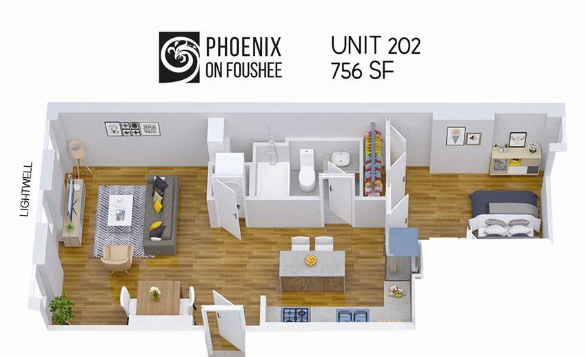 Phoenix on Foushee Unit 202