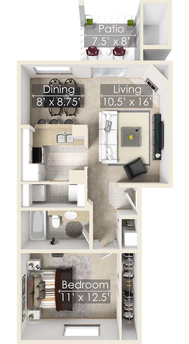 The Rainier One Bedroom Apartment, Enumclaw WA