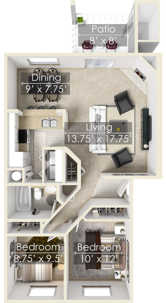 The White RIver Two Bedroom Apartment