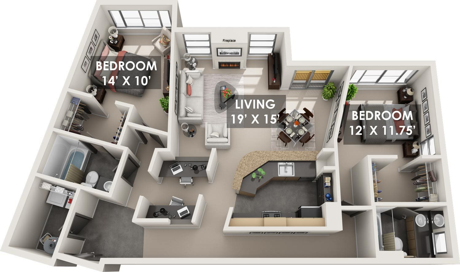 Casablanca 3D Floorplan
