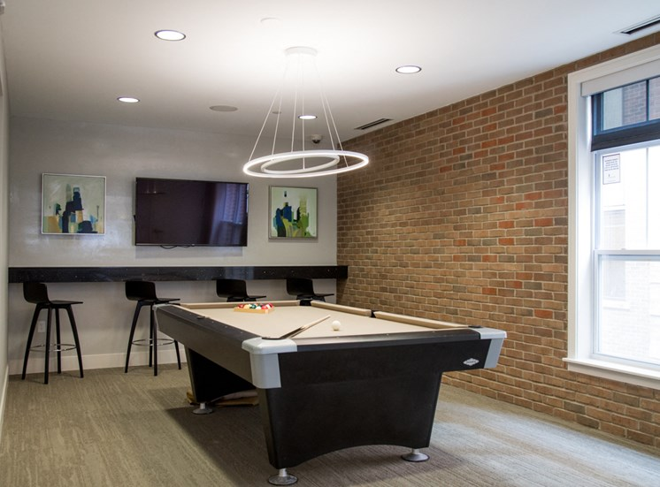 Modern Clubhouse With A Game Room at The Foundry, South Bend, IN, 46617