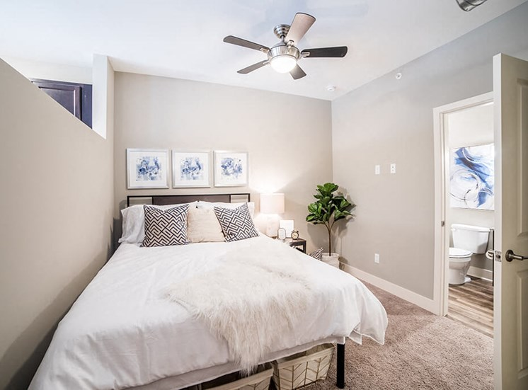 Large Comfortable Bedrooms With Closet, at The Foundry, South Bend