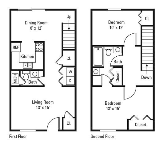 Floor Plans Of The Trails Of North Hills In Raleigh, NC