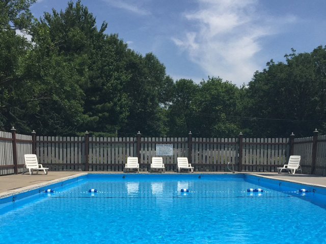 Swimming Pool With Relaxing Sundecks at Emerald Court, Iowa City, IA