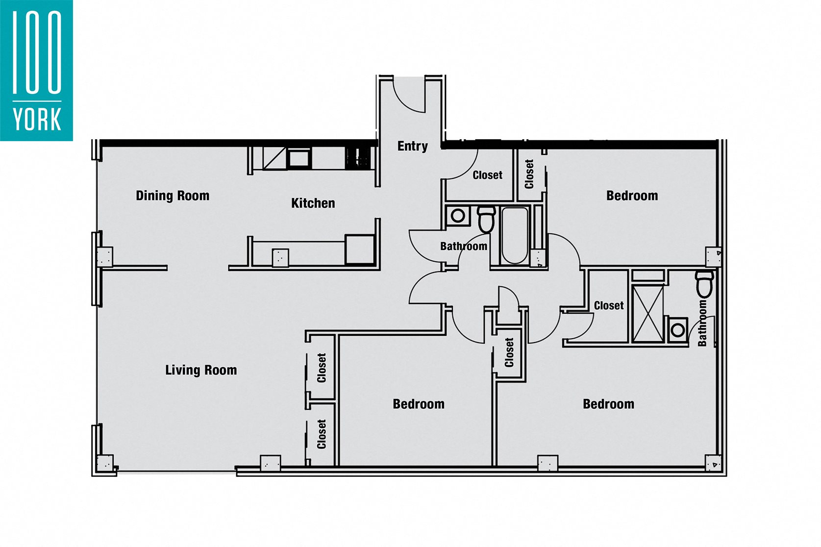 Three Bedrooms Floor Plan 4