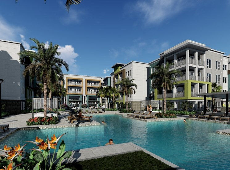 Residences at The Green Apartments in Lakewood Ranch, FL offers many amenities, including a resort-inspired pool