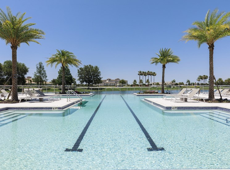 Olympic lanes in pool at Residences at The Green
