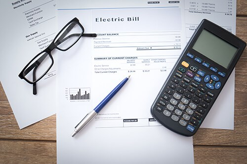 utility bills and calculator