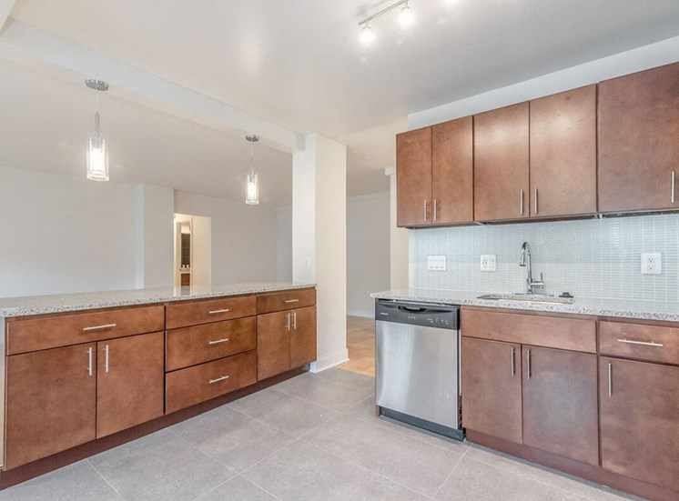 Modern Kitchen Cabinets at The Falls at Rolland Park apartments in Baltimore, MD