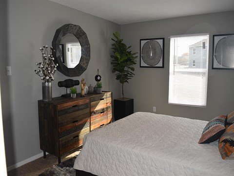 Model Bedroom At Cedar Run Apartments