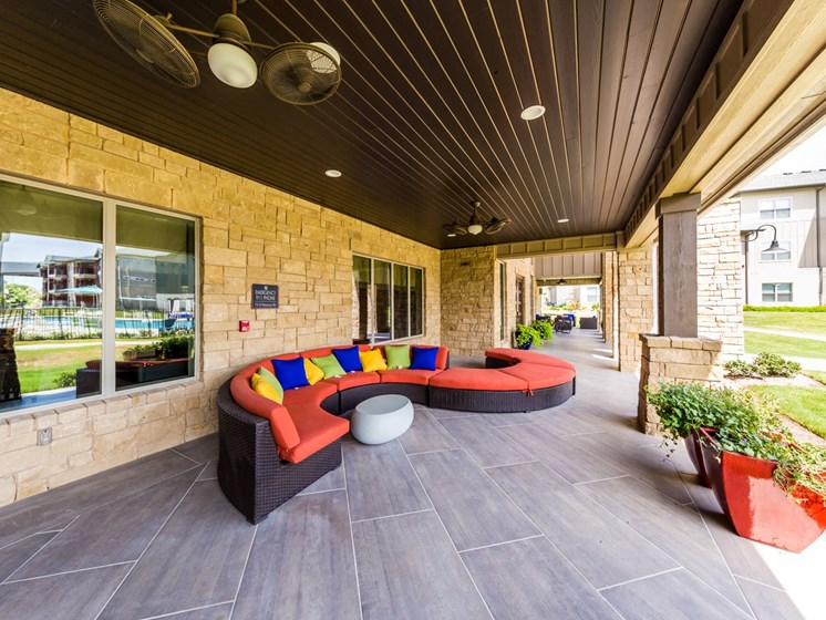 Rooftop Lounge Seating Area at Legacy Creekside, Texas