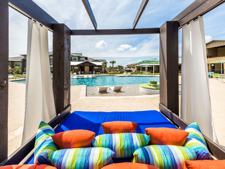 Lounge Swimming Pool With Cabana at Legacy Creekside, San Antonio, Texas