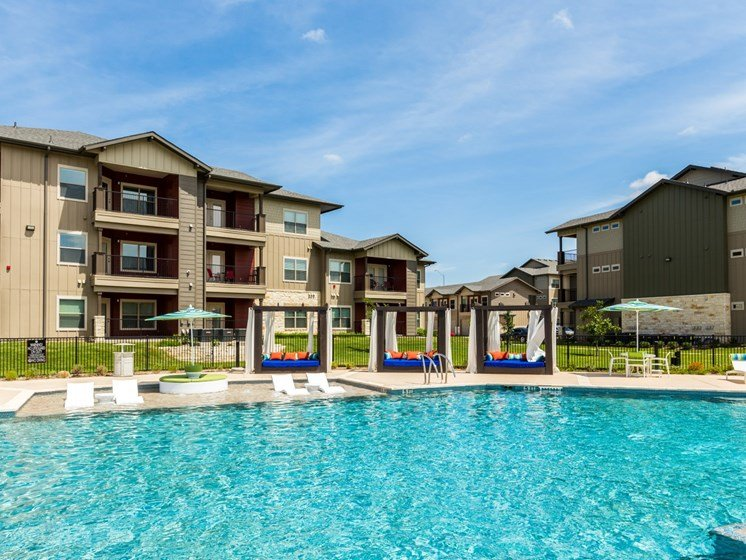 Cool Crystal Clear Swimming Pool at Legacy Creekside, Texas