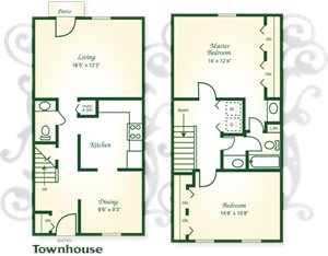 Two Bedroom Townhome with 1.5 Baths