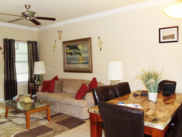 St. Anthony Garden Court apartments in St. Cloud, FL living room