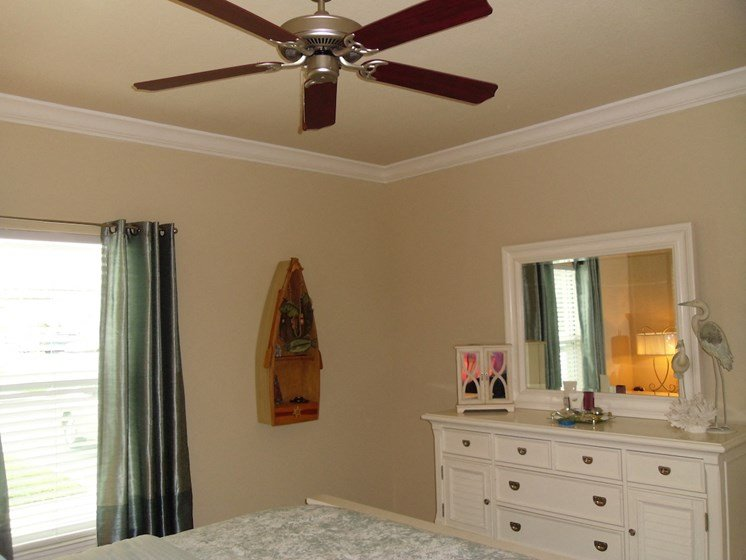 St. Anthony Garden Court apartments in St. Cloud, FL ceiling fan in bedroom