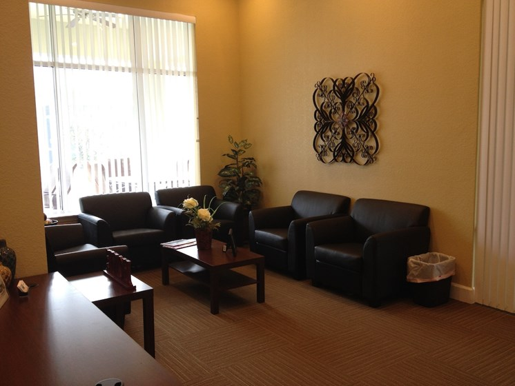 St. Anthony Garden Court apartments in St. Cloud, FL waiting area