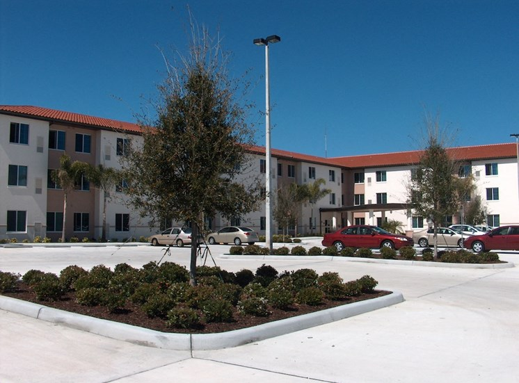 Holy Cross Manor I and II senior apartments in Palmetto, FL ample parking available