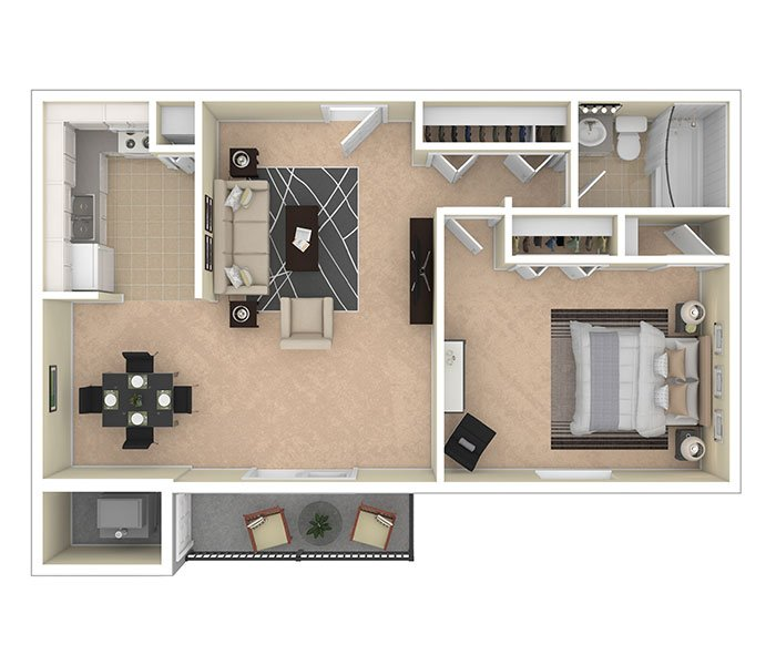 Silver Spring House Apartments One Bedroom