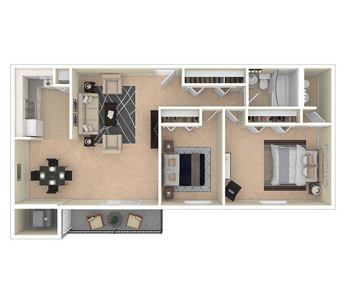 Silver Spring House Apartments Two Bedroom 1.5 Bath