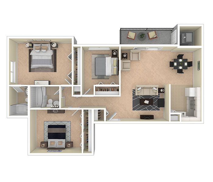 Silver Spring House Apartments Three Bedroom 2 Baths
