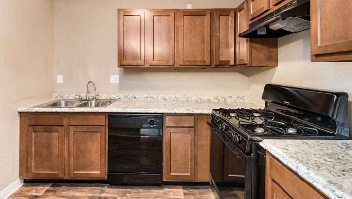 Updated appliances at Grant 79 Apartments in Overland Park, KS