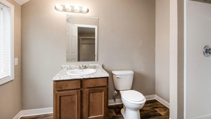 Bathroom at Grant 79 Apartments in Overland Park, KS