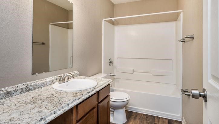 Huge bathrooms at Grant 79 Apartments in Overland Park, KS