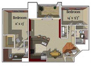 2 Bedroom/2 bath [Aspen]