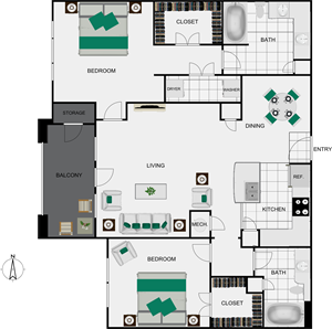 B4 Floorplan view for arlo westchase