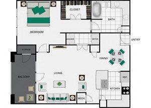 A7 Floorplan for apartments in houston texas
