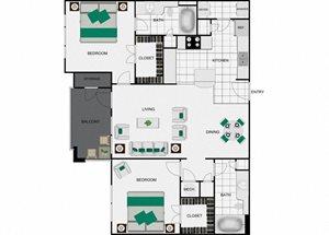 B1 Floorplan for units in houston