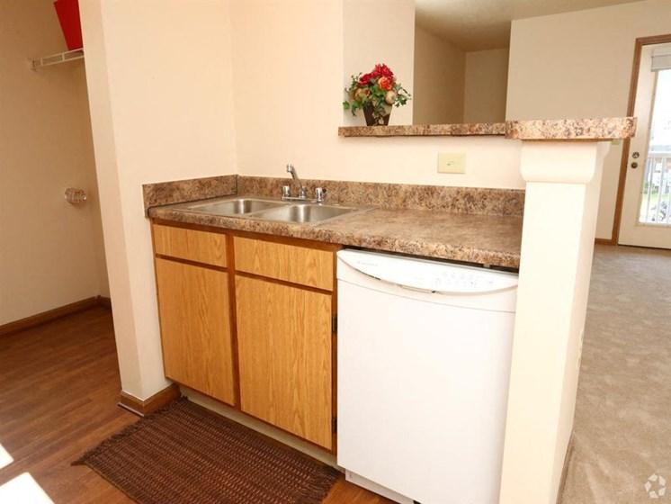 apartment sink and dishwasher_Lakestone Apartments, Ann Arbor, MI